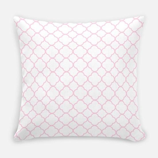Pink, Baby: Quatrefoil Clover Patt Everyday Pillow