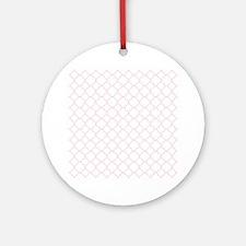 Pink, Baby: Quatrefoil Clover Patte Round Ornament
