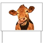 Selfie Cow (Transparent) Yard Sign