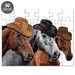 Cowboy Horses Puzzle