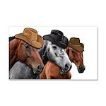Cowboy Horses Car Magnet 20 x 12