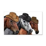 Cowboy Horses Rectangle Car Magnet