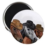 Cowboy Horses Magnet