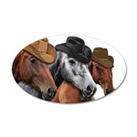 Cowboy Horses 20x12 Oval Wall Decal