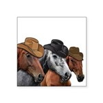 Cowboy Horses Square Sticker 3