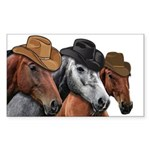 Cowboy Horses Sticker (Rectangle 10 pk)