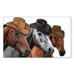 Cowboy Horses Sticker (Rectangle 50 pk)