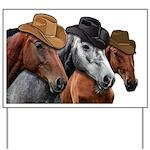 Cowboy Horses Yard Sign