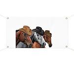 Cowboy Horses Banner