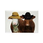 Country Couple Rectangle Magnet (100 pack)