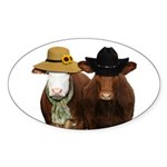 Country Couple Sticker (Oval 50 pk)