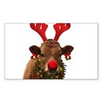 Christmas Cow Sticker (Rectangle 50 pk)