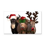 Santa & Friends Rectangle Car Magnet