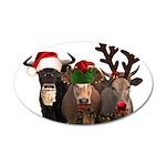 Santa & Friends 20x12 Oval Wall Decal