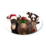 Santa & Friends 35x21 Oval Wall Decal