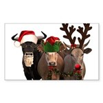 Santa & Friends Sticker (Rectangle 10 pk)