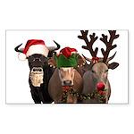 Santa & Friends Sticker (Rectangle 50 pk)
