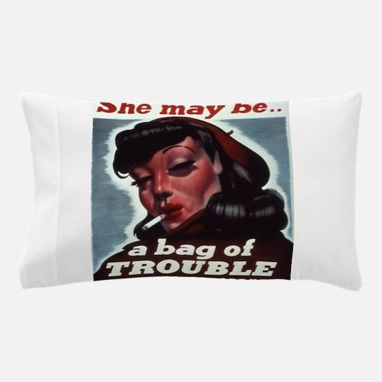 Vintage poster - STDs Pillow Case