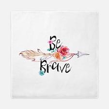 Be Brave Floral Arrow Queen Duvet