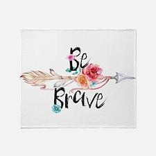 Be Brave Floral Arrow Throw Blanket