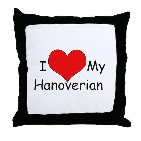 "I ""Heart"" my Hanoverian Throw Pillow"
