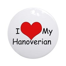 "I ""Heart"" my Hanoverian Ornament (Round)"