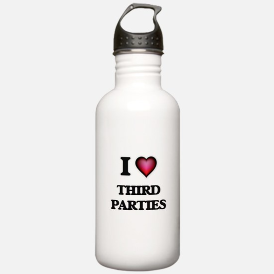 I love Third Parties Water Bottle