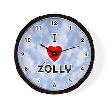 I Love Zolly (Black) Valentine Wall Clock
