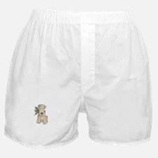 Wheaten Terrier with Holly Boxer Shorts