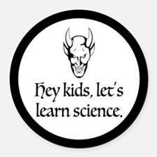 The Devil Promotes Science Round Car Magnet