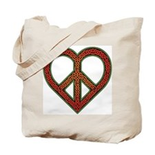Love and Peace Knotwork Tote Bag
