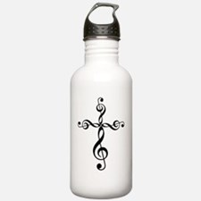 Funny Treble clef Water Bottle