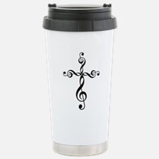 Treble Clef Cross Stainless Steel Travel Mug