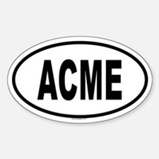 ACME Oval Decal