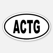 ACTG Oval Decal