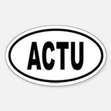 ACTU Oval Decal