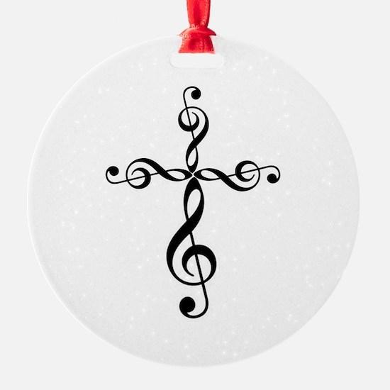 Treble Clef Cross Ornament