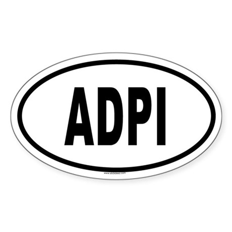 ADPI Oval Sticker