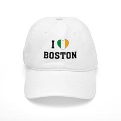 I Love Boston Irish Baseball Cap