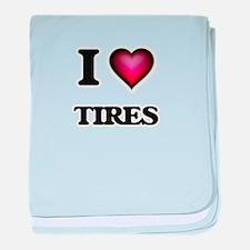 I love Tires baby blanket