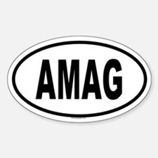 AMAG Oval Decal