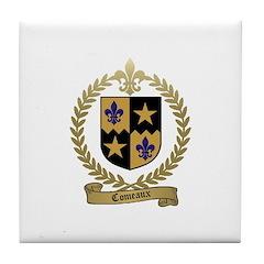 COMEAUX Family Crest Tile Coaster