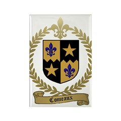 COMEAUX Family Crest Rectangle Magnet