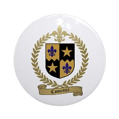 COMEAUX Family Crest Ornament (Round)