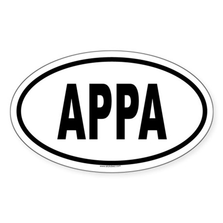 APPA Oval Sticker