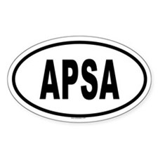 APSA Oval Decal