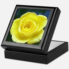 Yellow Rose Keepsake Box