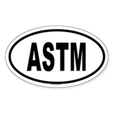 ASTM Oval Decal