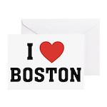 I Love Boston Greeting Cards (Pk of 10)