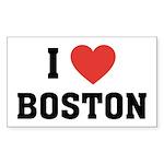 I Love Boston Rectangle Sticker